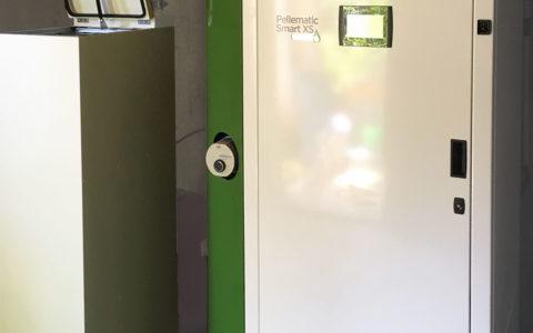 Chaudière à granulés Okofen Smart XS avec réserve manuelle