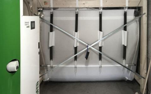 Chaudière à granulés Okofen Smart XS avec silo remplissage en vrac annuel