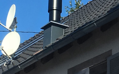 Terminal ventouse verticale pour chaudière à granulés à condensation Okofen